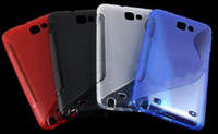 Wholesale 200pcs S Line Crystal Soft TPU Gel Skin Case Cover for Samsung Galaxy Note I9220 N7000 Mix Colors