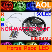 Wholesale BEST Flexible RGB Multi color Led Strip Light DC V LEDs Non Waterproof SMD M roll Contro V A Power Adapter
