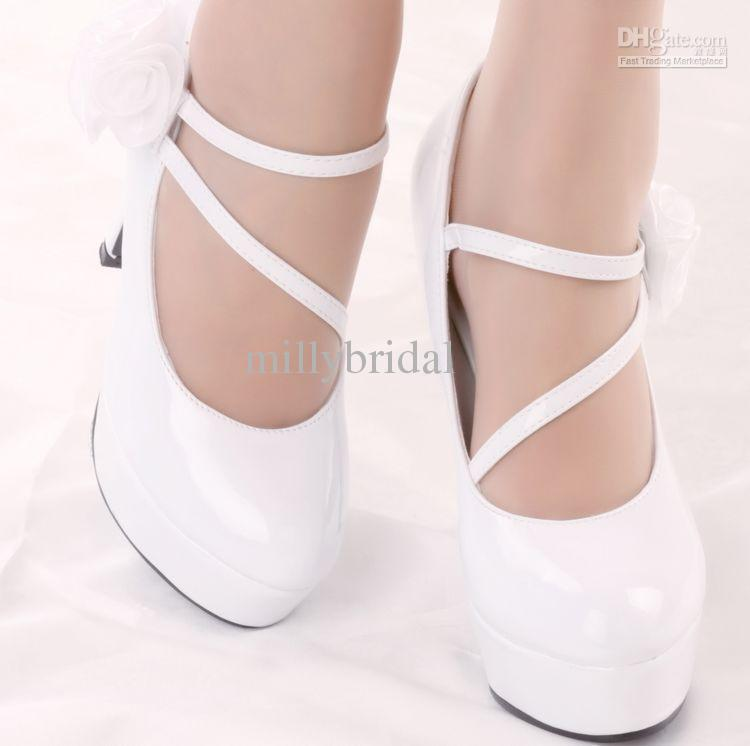 Wedding Shoe China Wholesale Fairy Fashion White Color Simple Style