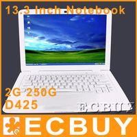 Wholesale 13 inch Laptop Intel D425 GHz G G WIFI MP Camera notebook netbook