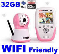 Wholesale 2012 NEW Arrivel Wireless IR camera two way aduio Quad view GB SD card supported two way talk