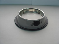 Wholesale Cat Bowls Upper Dia quot Stainless Steel Made Bowls With Cat Head Images Printing Shows Lovely a