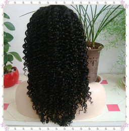Wholesale 14 inches kinky curl indian remy human hair lace front wigs
