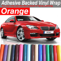 Wholesale Orange mm x mm CAR Vinyl Film WRAPPING VEHICLE ADHESIVE Sign Maker Van Wide ANY COLOUR