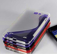 No n7000 tpu - S line TPU skin case for galaxy note n7000 i9220 S shape back cover case for n7000