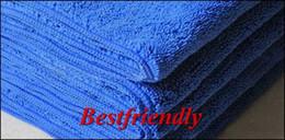 20pcs Car Towel Vehicle Washcloth Car Cleaning Washing Cloth 33x75CM Superfine Fiber Blue