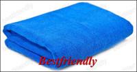 Wholesale 400pcs Car Towel Vehicle Washcloth Car Cleaning Washing Cloth x40CM Superfine Fiber Blue