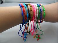 Wholesale Jewelry Catholic cheap Cross Rosary beads bracelet jewellery handmade bracelet colors mixed