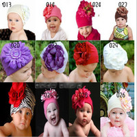 Beret big beret hats - Infant Beanie with Big Flowers Baby Toddler Hats Girl s Elasticity Caps Years Old Knitted Cap