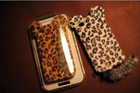 No Textile  For Apple iPhone 20pcs lot GOOD For 4 leopard print case with tail TPU case glamorous back cover