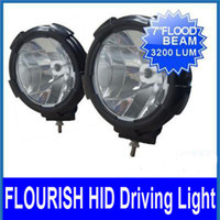 Wholesale 2 x W BLACK HID XENON DRIVING LIGHT V K SUV ATV WD FLOOD BULBS INTERNAL BALLASTS W COVER