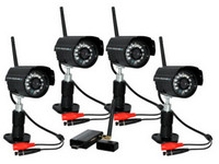 Wholesale 4ch Digital Camera Home USB DVR Wireless CCTV Security System IR Color Audio Video and Remote View