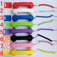 Wholesale 50pcs Smooth telephone handset for g Anti radiation answer key volume control button