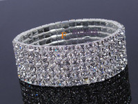 Wholesale 8 row row row row rows of silver at the end of white around the whole diamond bracelet