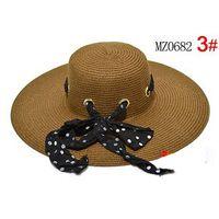 Wholesale 2012 NEW Design Wide Large Floppy Brim Summer Beach Sun Straw Hat Visors Beach Derby Hat Cap colors