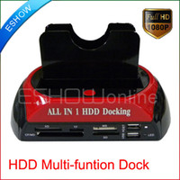 Wholesale All In HDD Docking USB2 ESATA IDE SATA HUB D3087A