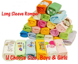 Wholesale 10pcs Pack Long Sleeve Creepers Rompers New Born Baby Infant One Piece Rompers
