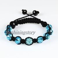 Wholesale shamballa shambala bracelets Macrame disco ball pave beads crystal bracelets jewelry armband Shb009 cheap china fashion jewelry