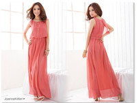 Wholesale Womens dresses ladies chiffon long dress maxi dress party Bohemian beach dress CH606