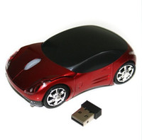 Wholesale D Car shape DPI Wireless Optical Wheel Mouse Mice MC5 for Laptop PC20pcs D