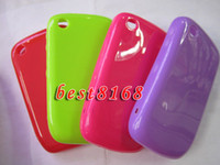 Wholesale Soft silicone TPU case jelly crystal skin back cases For blackberry BB curve COVER SKIN CASES