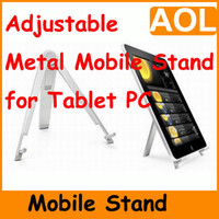Wholesale 2014 NEW You good choice and you good friend Adjustable Aluminum Metal mobile stand for Tablet PC