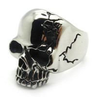 punk - Gothic Style Ghost Skull Ring For Men Biker Punk Fashion Stainless Steel Ring Jewelry