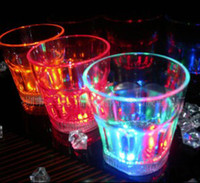 Wholesale Dreamlike LED Plastic Activated Flashing Whiskey beer Cup Wine Mug For Party House Decor