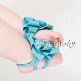TOP BABY Hot Sale Baby foot flower foot wear feet band baby shoe flower babywear