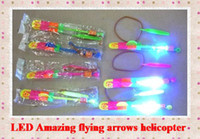 arrow dolls - LED toy Amazing flying arrows helicopter umbrella light parachute LED Arrow Helicopter led doll