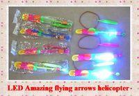 arrow dolls - LED toy Amazing flying arrows helicopter umbrella light parachute LED Arrow Helicopter led doll