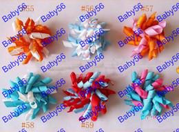 Curleurs enfants 100pcs arcs de fleurs, rubans de Korker pince à cheveux rt2 'S barrettes de cheveux enfants @ 13 à partir de bigoudis de ruban fabricateur