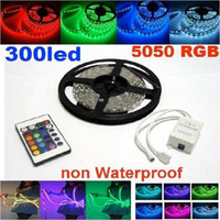 Wholesale 20m RGB SMD LED Light Strip non Waterproof led m m led strips lighting Keys Remote IR Controller