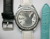 Quartz playboy watches - 50pcs Playboy Boy s Girl s Leather Watch WirstWatch Fashion Quartz Watches Unisex Watches A11