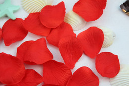 Wholesale Red Color Silk Rose Petals Bags