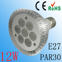 GU10 Cool White(5500-7000K) 110V 12W Par30 LED Flood Light Bulb Dimmable GU10 E27 110V Cool White 120 Degree Car Aluminum 12pcs lot