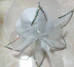 Mini Top Hat FEATHER Stone HAIR MESH HAT FASCINATOR CLIP FLOWER WEDDING PARTY Fascinator #128