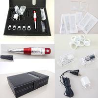 beauty supply case - Beauty Permanent Tattoo Makeup Eyebrow Lip Machine Kits Needles Tips Case Tool Kits Cosmetic Supply