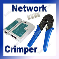 Wholesale Network Crimper CAT5 RJ45 Modular Cable Tester connectors for RJ11 RJ12 Base T AT amp T258