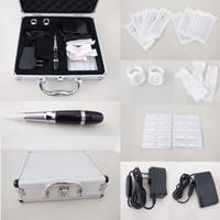 tattoo machine case - Permanent Tattoo Makeup Eyebrow amp Lip Machine Kits Needles Black Pen Tips Case Tool Kits