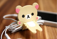 Wholesale Fashion rilakkuma jagged bobbin winder for earphone rilakkuma