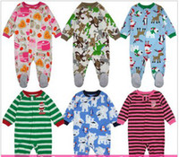 Wholesale Baby clothes lovely picture body climb clothes polar fleece and many many designs