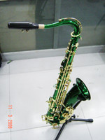 Wholesale Saxophone Newest Beauty Green Tenor Saxophone Factory Outlet