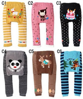 Wholesale 10pcs baby busha Animals pp pants styles six months years old baby size Busha Baby Pants PP