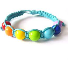 COLORFUL Braided Bead Bracelets 10MM DISCO BALL BEADS BRACELET ADJUSTABLE 100pcs lot Brand NEW Fashion Jewelry