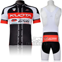 Wholesale KUOTA Cycling clothes Cycling Jersey Short sleeved Bib Shorts