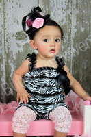 Wholesale Baby Romper Patten Lace Petti Rompers Girls Lace Rompers size colors