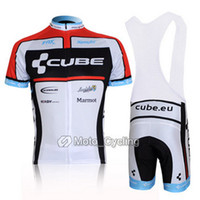 Wholesale CUBE Cycling clothes Cycling Jersey Short sleeved Bib Shorts