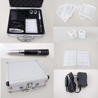 New best makeup tips - New Style Best Quality Tattoo Makeup Eyebrow Pen Machine Kits Needles Tips Ink Caps Aluminum Case