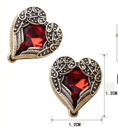 free shipping Retro Hearts earrings angel of love earring Top grade